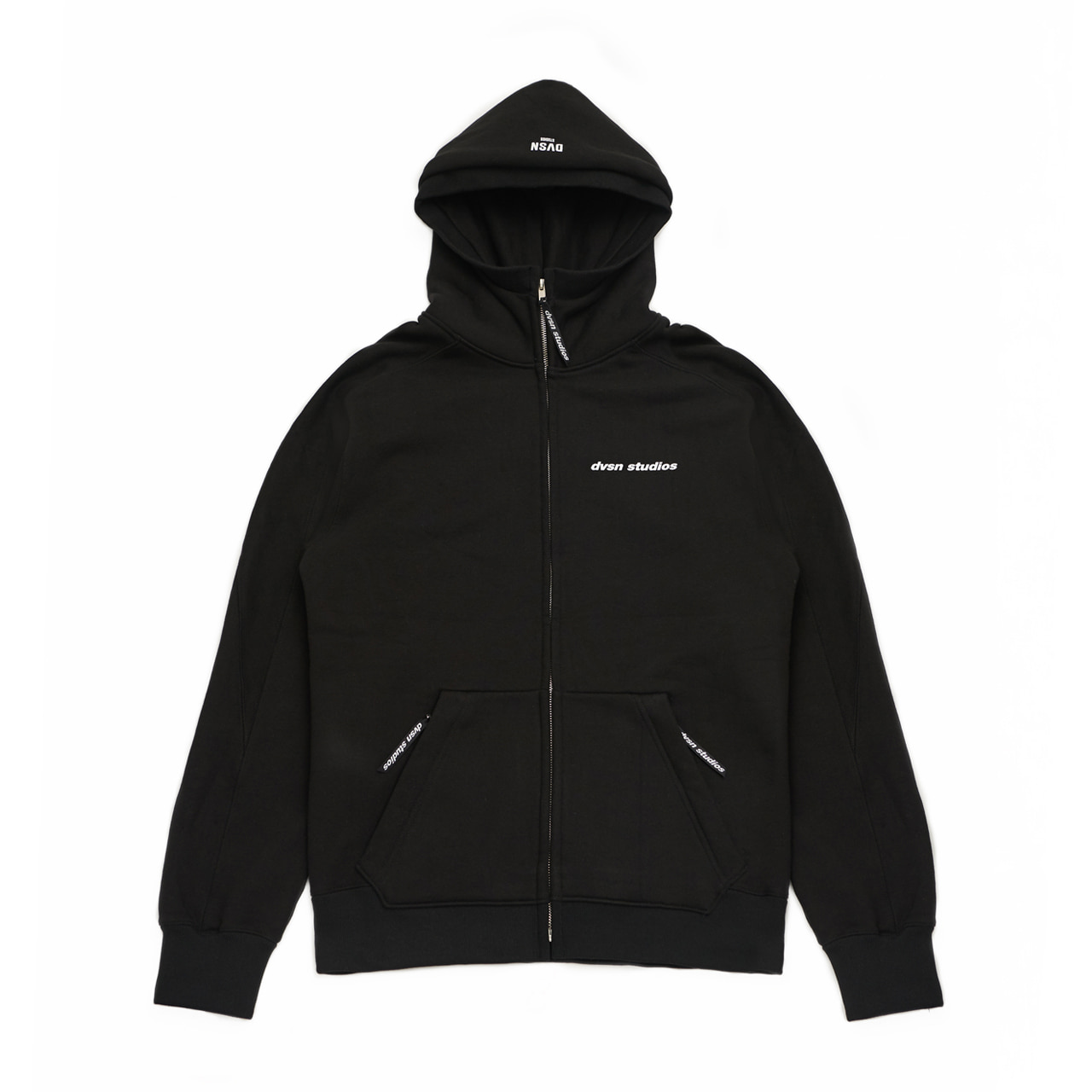 DVSN STUDIOS zip neck hood _ Black