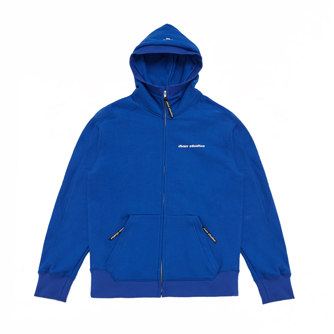 DVSN STUDIOS zip neck hood _ royal blue