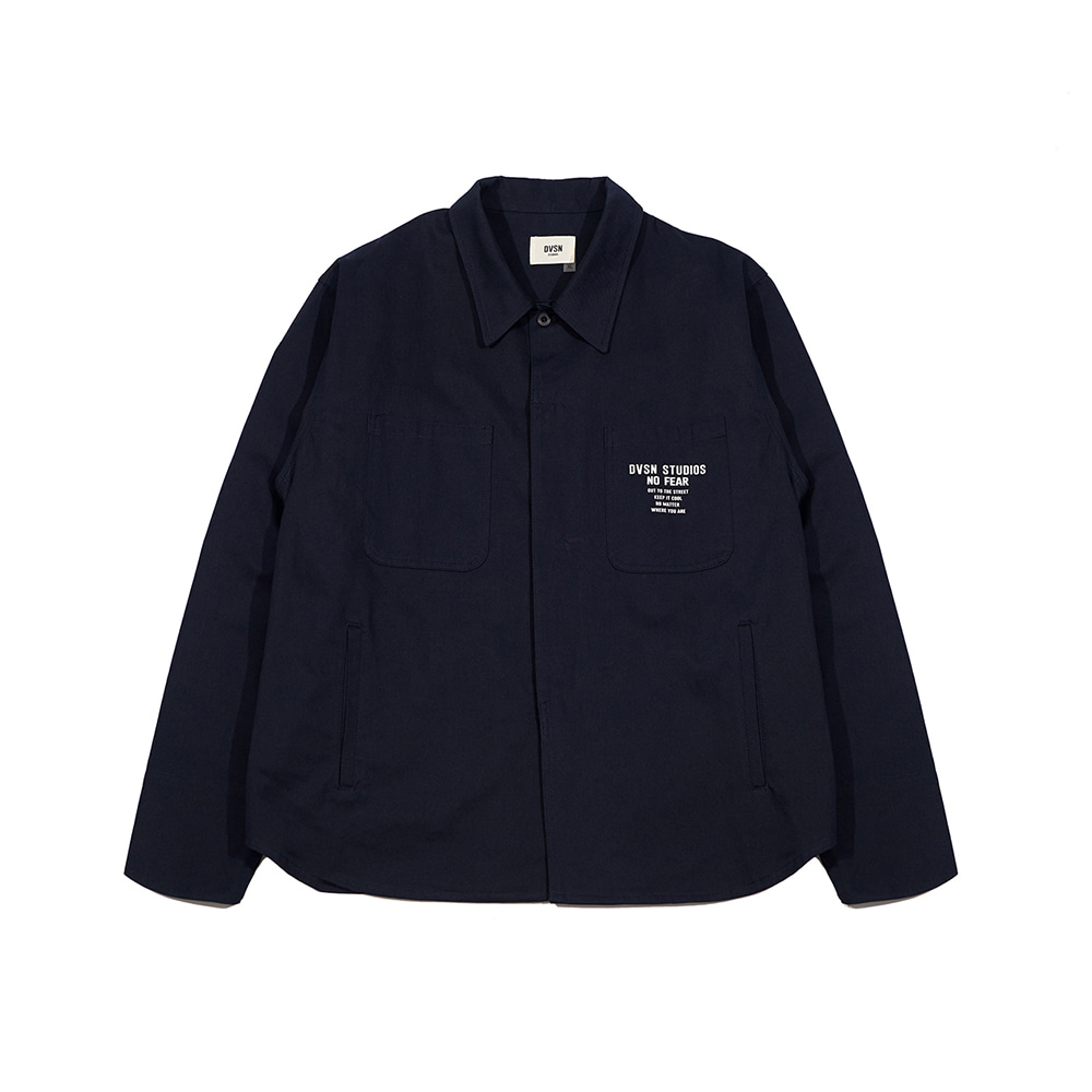 Dvsn classic shirt jacket _ navy