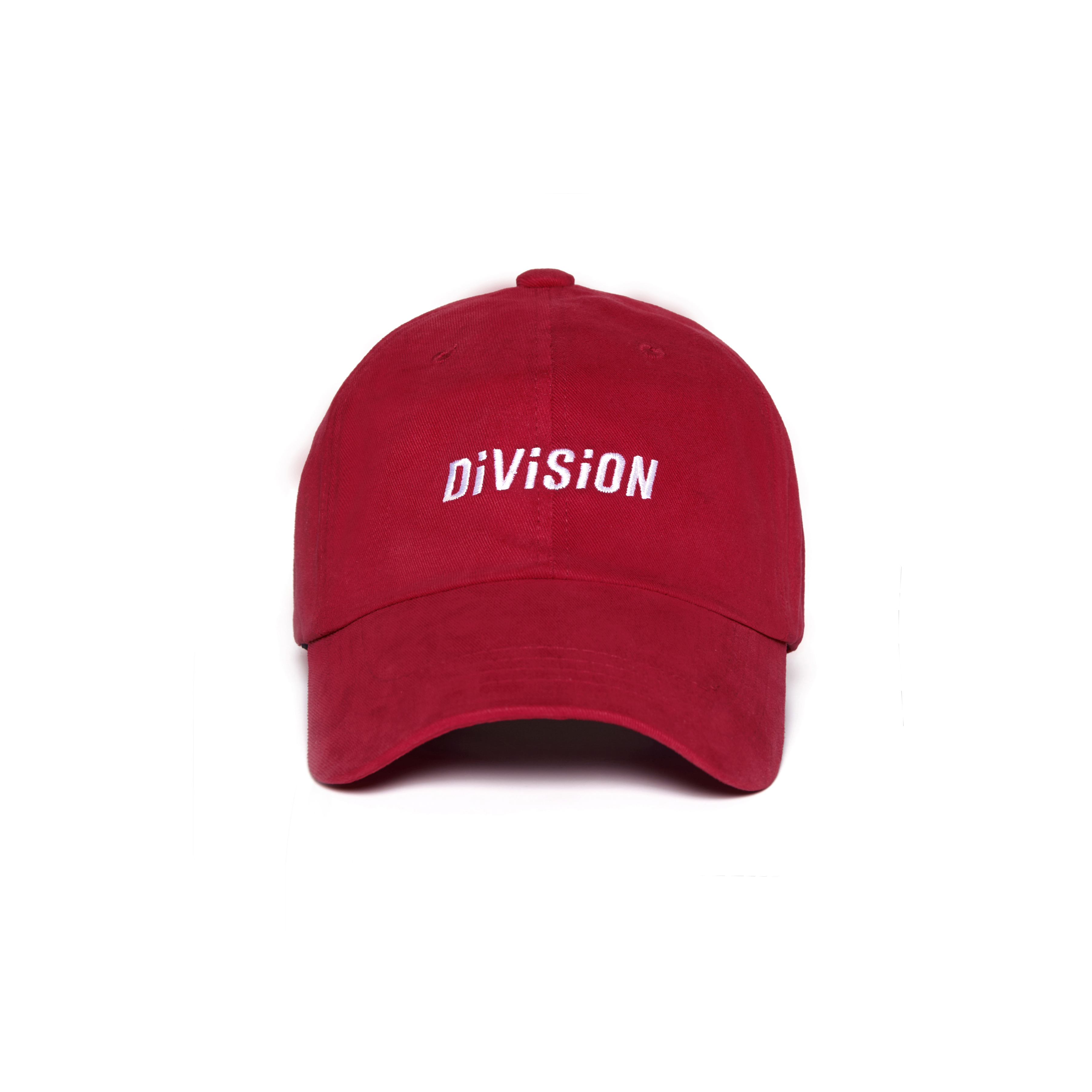 DVSN STUDIOS BASIC BALL CAP DIVISION RED